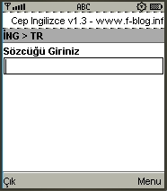Cep Ingilizce v1.3 - boş ekran