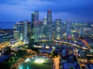 Orijinal resim (Singapur'dan bir görünüş)