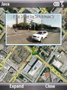 Bu da Google Mobile Maps bir Street View Görüntüsü