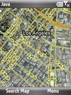 Google Mobile Maps Los Angeles, LA ekran görüntüsü