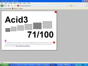 Firefox Acid3 test sonucu