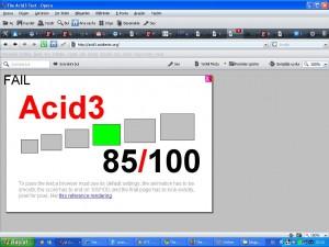 Opera Acid 3 test sonucu
