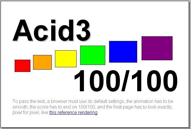 Olması gereken Acid3 sonucu