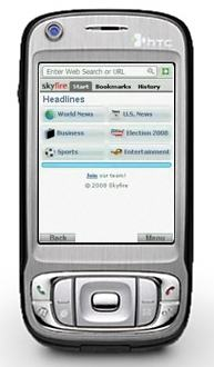 HTC üstünde Skyfire