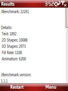 Esmertec Jbed 2008222.3.2 Jbenchmark test sonucu