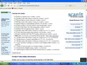 Firefox sonuç ekranı
