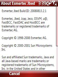 Esmertec JBed Rose hakkında sayfası
