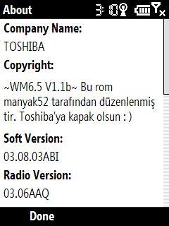 Toshiba Portégé G500 WM 6.5 hakkında sayfası