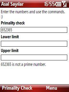 Asal Sayilar asal sayı kontrolü