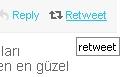 Twitter ReTweet gönderme seçeneği