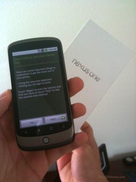 Nexus One ekranı baya geniş görünüyor.