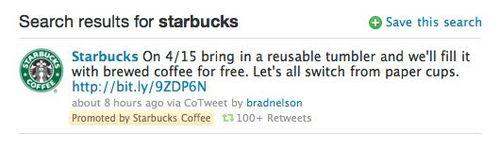 Twitter reklam örneği.