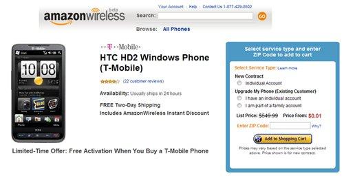 HTC HD2 0,01 $ :)