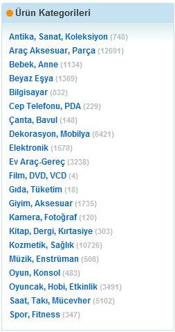 SonTeklif.com ürün kategorileri.