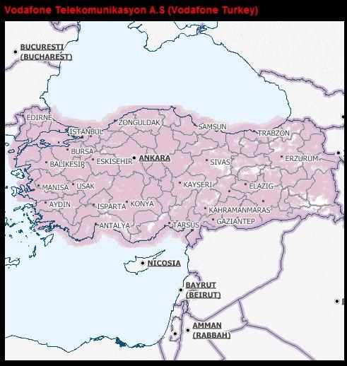Vodafone kapsama alanı haritası
