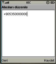 F-Grup SMS alıcı düzenleme