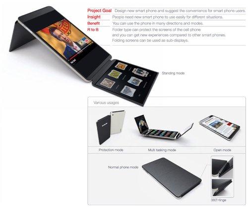 360 konsept katlanan telefon
