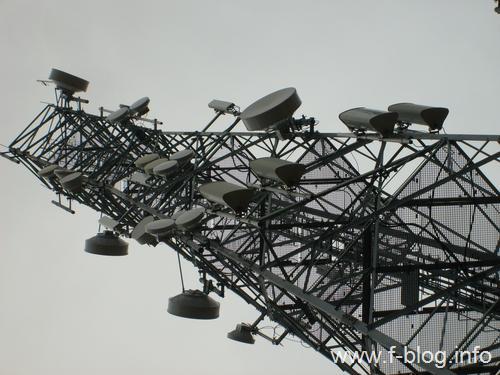 Mikrodalga radyolink antenleri.