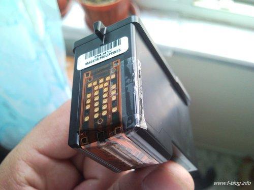 Lexmark x2670 inkjet yazıcıyı doldurulmuş 14 siyah kartuşla aldatma durumu.