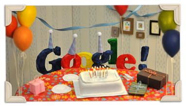 Google 13. yıl doodle