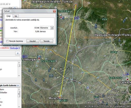 Turkcell 58 KM mesafeden çekebiliyor! :D