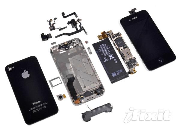 iPhone 4 parçaları.