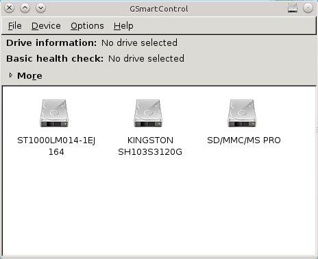 GSmartControl ekranı