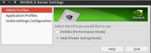 Nvidia X Server Settings