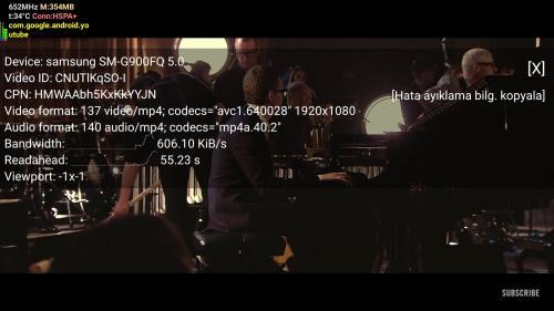 3G üzerinden otobüs yolculuğunda 1080p Youtube testi.