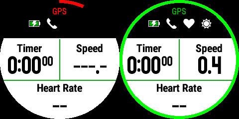 GPS sabitlenme öncesi ve sonrası. Yeşil çizgide hazırız. ;)